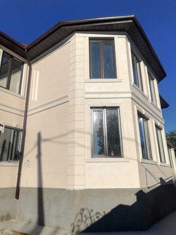 Отделка фасада, Травертин, изделия из пенопласта, Фасадный декор