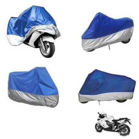 Husa moto prelata impermeabila 246x105x127 albastru/argintiu