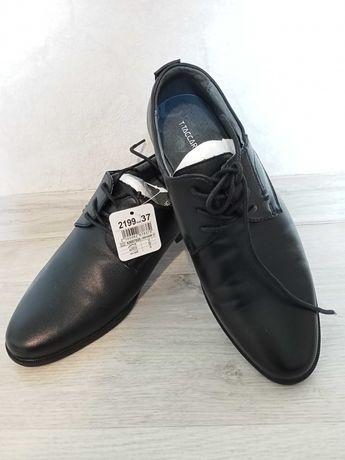 Туфли школьные, новые, кожа натуральная.