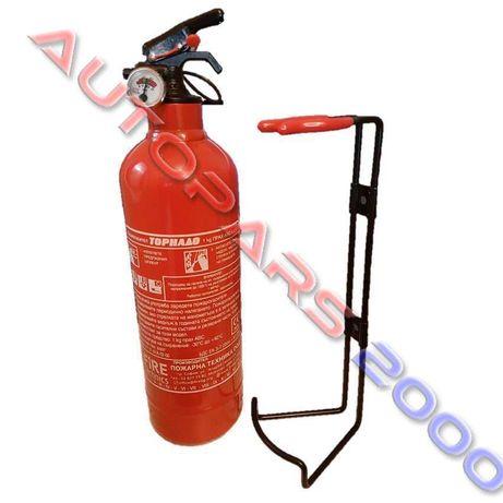 Прахов пожарогасител 1 кг АВС / сертификат и заверка до края на 2021