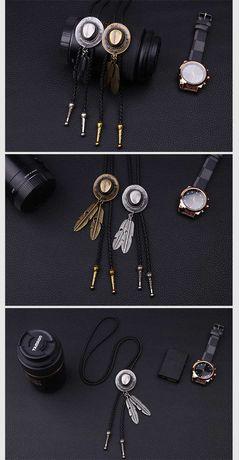 Coliere metalice/ snururi piele cu medalion/ cravate americane BOLO