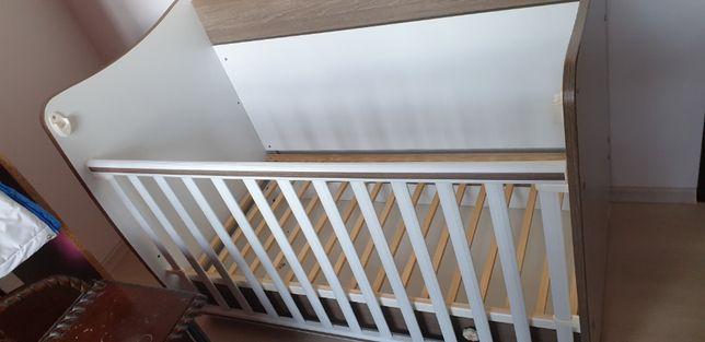 Patut balansoar Lorelli Classic Dream, 60 x 120 cm, saltea si husa Alb