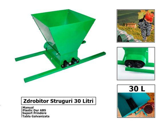 Zdrobitor Struguri Manual 30 De litri Din tabla Galvanizata