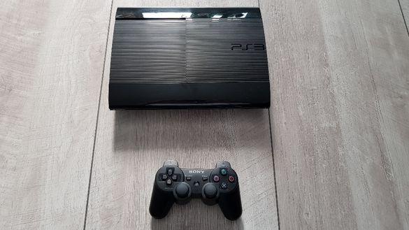 Sony playstation 3 PS3 Super Slim 60GB и 7 диска с игри