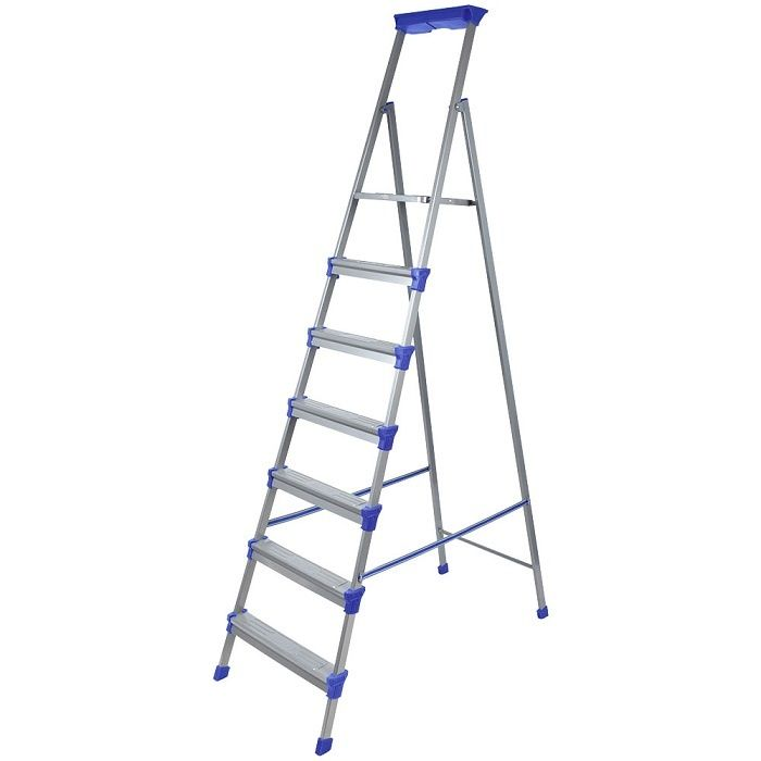 Лестница - стремянка металлическая широкие 7 ступени Nika (Ника) СМ7
