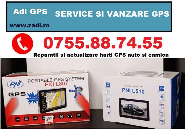 GPS nou TIR,cu garantie si factura+4 softuri camion+harti actualizate