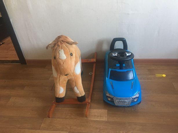 Машина и лошады детскии