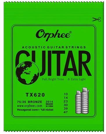 Corzi chitară acustică electro-acustica Orphee 10-47