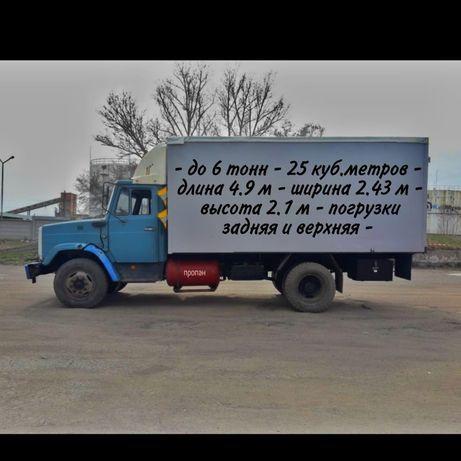 Грузоперевозки промтоварного фургона 5 тонника 25 куб. метра .
