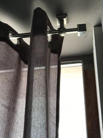 Инокс сатен корниз за таванен или стенен монтаж - голям - 5,70 метра