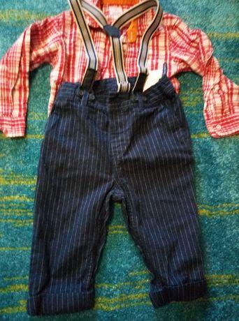 Pantalonasi cu bretele si cămăsută pt bebe,botosei  cadou