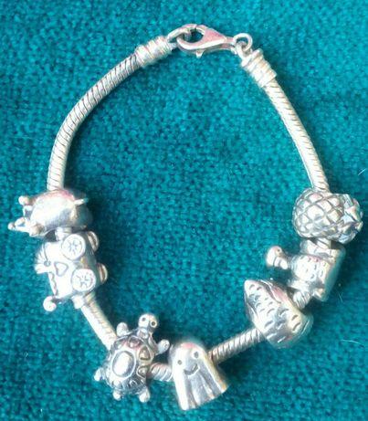 Bratara Pandora vintage de argint 925