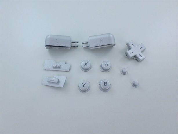 Butoane piese nou Nintendo DS Lite A B X Y D-Pad L R - metalic argint