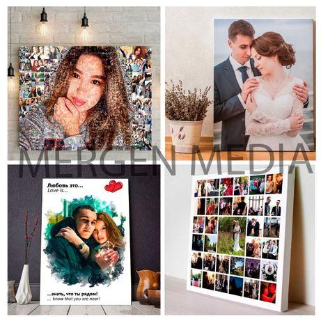Фотомозаика|Фотомозайка|Холст|Фото |Фотоподарки|Фотоколлаж|Постеры