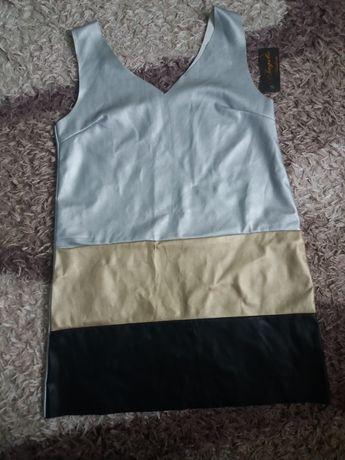 Нова рокля от кожа