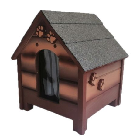 Къща за куче - Кафява,размер С - Къщичка за кучета,Колиба за куче