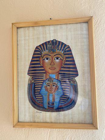 Tablou Faraon pictat pe pânză