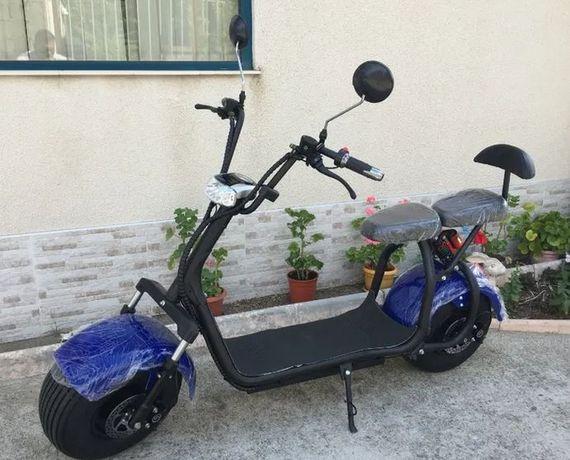 Промоция!!! Двуместен Електрически скутер ЧОПЪР City Harley 2000 Вата