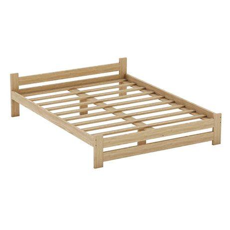 Cadru de pat din lemn masiv de pin 160x200 / Natur