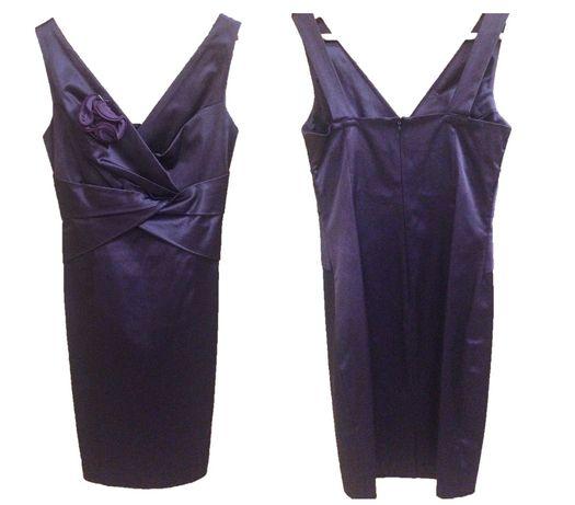 Елегантна вталена рокля от сатен памук за официален повод