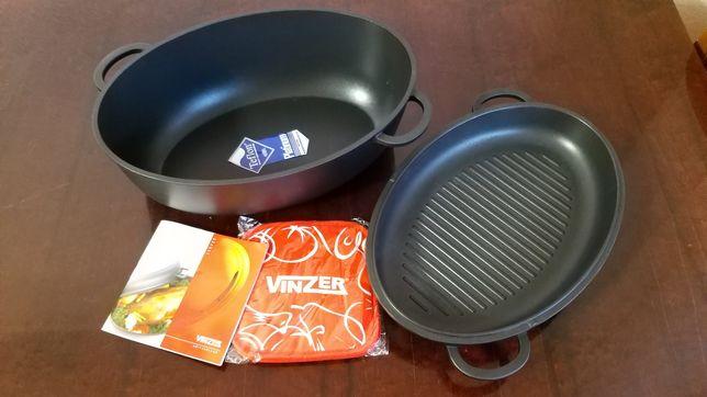 Жаровня-гусятница + сковорода-гриль 10 л