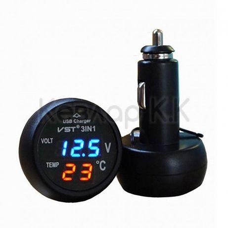 Зарядно за кола, волтмер, термометър VST-706