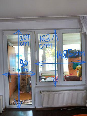 Termopan cu geam și ușa