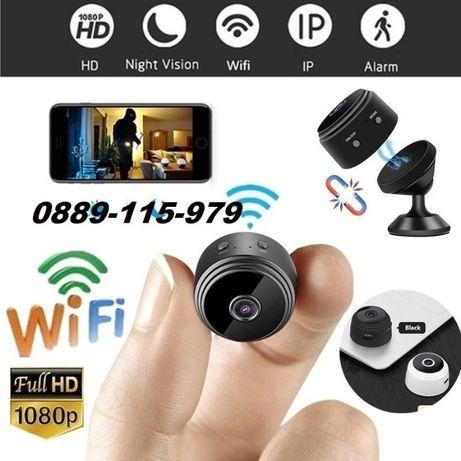 Безжична Mini FullHD WiFi камера с магнит за видеонаблюдение robocam