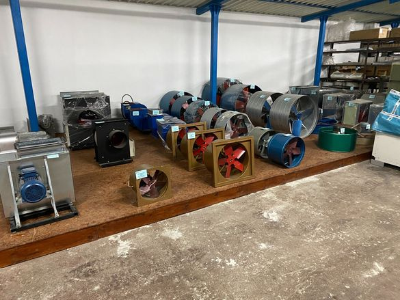 Вентилатори центробежни,осеви и канални на склад!