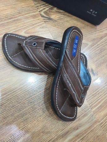 Papuci de piele naturală barbati nr 40