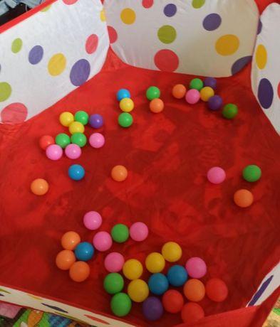 Складной сухой бассейн с шариками вместе новый