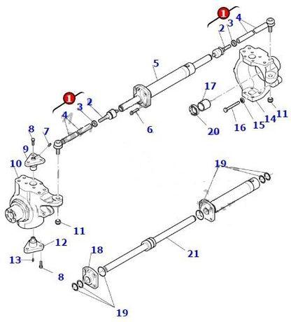 CA0145481 Capat de bara complet buldoexcavator KOMATSU WB93R-5