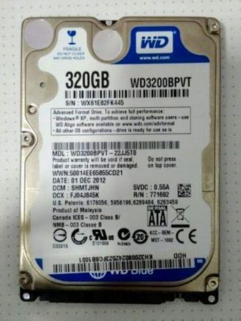 Hard Disk DEFECT WD 320 GB SATA Laptop ( WD3200BPVT - 22JJ5T0 ) HDD