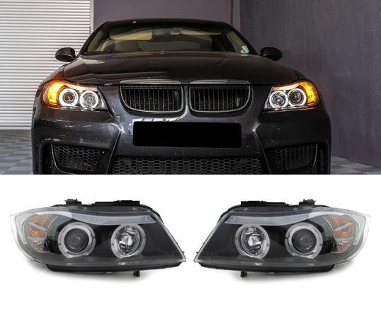 Faruri BMW Seria 3 E90 E91 2 ani Garantie /Angel Eyes -y