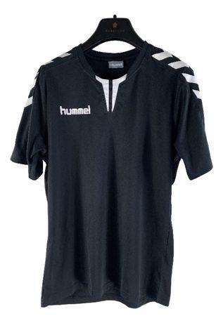 Tricou barbati Hummel marimea S negru antrenament sala handbal y15