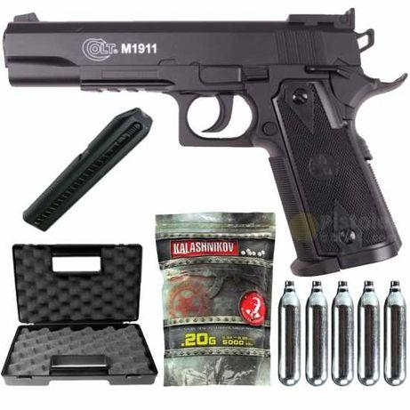 Pistol Airsoft Colt 1911+Cutie+Co2+Bile Pachet COMPLET 4J