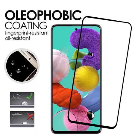 5D Стъклен Протектор за Samsung Galaxy A51 A71 A20e A40 A50 A70 A7 A80