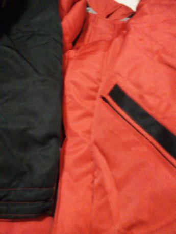 Мъжки зимни якета в червено и черно. Два броя