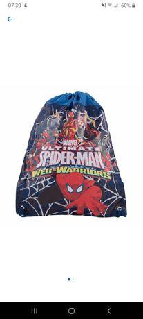 Sac sport cu șnur copii școală/grădiniță cu Spiderman NOU