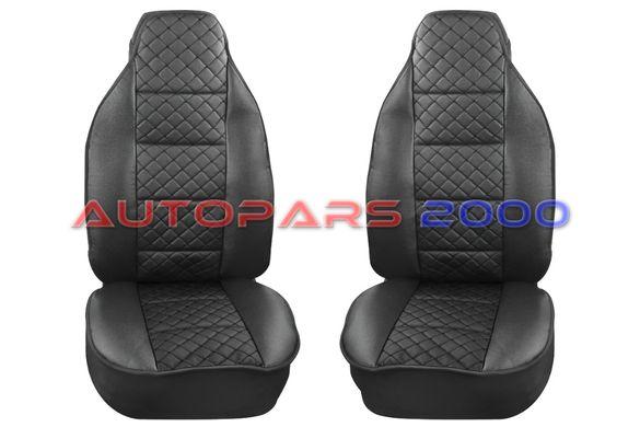 Калъфи за предни седалки тип Масажор S STYLE / Чисто черни