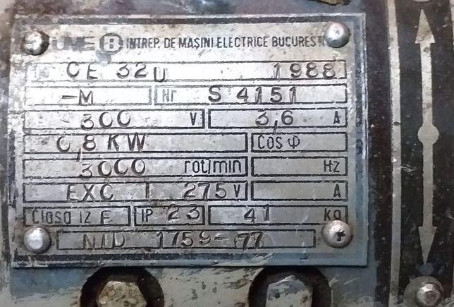 Motor electric nou - vezi caracteristici pe eticheta 0,8 Kw - 3000 rot