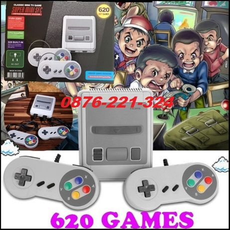 ТОП Ретро ТВ Игра с 620 игри тип Nintendo / Sega за малки и големи