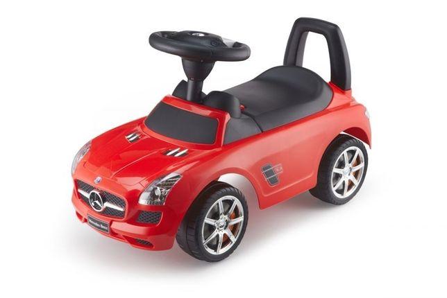 Masinuta premergator Mercedes-Benz SLS AMG, rosie, 67x37x29 cm
