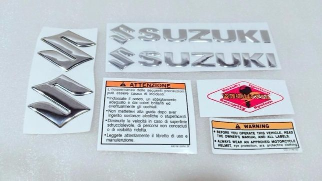 Stickere Logo Badge 3D Suzuki Diferite Culori Moto Atv Quad