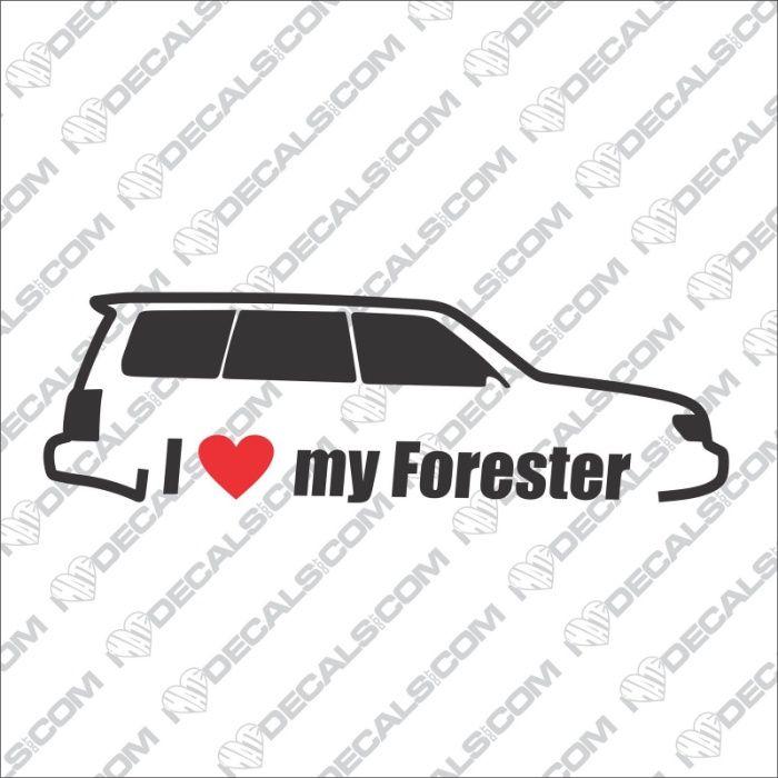Стикери Субару Форестър Subaru Forester