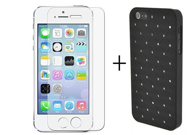 Pachet Elegance Luxury Husa+Folie Apple iPhone 5/5S/SE