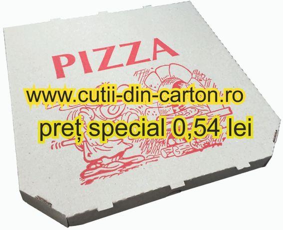 cutii pizza 32x32x3 natur, set 100 buc-producator