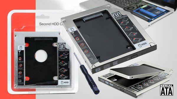 Caddy HDD/SSD Adaptor HDD laptop la DVD-ROM noi mai multe modele