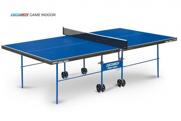 Теннисный стол Start Line Game Indoor BLUE с сеткой