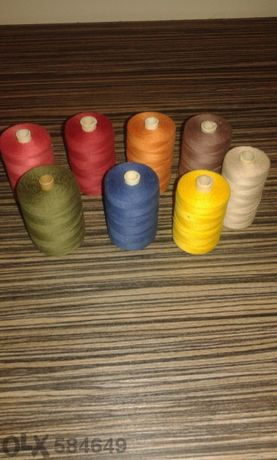 Шивашки макари различни чветове. Памук, първо качество 2 000м.